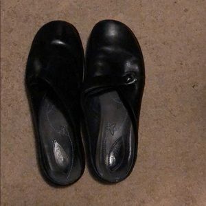 Black Clark's Slip On Shoes